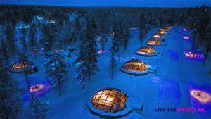 روستای اسکیمو در ویط جنگل در فنلاند